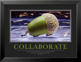 Collaboration Reproduction laminée et encadrée