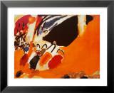 Impression III (Concert) Reproduction laminée et encadrée par Wassily Kandinsky