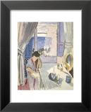 Liseuse à la coiffeuse, fin 1919 Reproduction laminée et encadrée par Henri Matisse