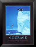 Courage, en anglais Reproduction laminée et encadrée par Steve Bloom