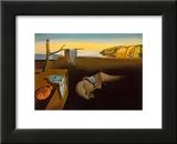 La persistance de la mémoire, vers 1931 Reproduction laminée et encadrée par Salvador Dalí