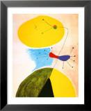 Portrait Reproduction laminée et encadrée par Joan Miró