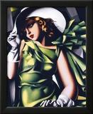 Jeune fille en vert Reproduction laminée et encadrée par Tamara De Lempicka