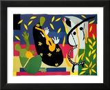 La tristesse du roi, 1952 Reproduction laminée et encadrée par Henri Matisse
