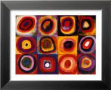 Étude de couleurs, vers 1913 Reproduction laminée et encadrée par Wassily Kandinsky