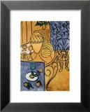 Intérieur en jaune et bleu, 1946 Reproduction laminée et encadrée par Henri Matisse