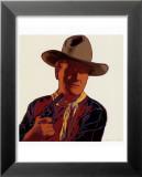 Cowboys and Indians: John Wayne 201/250, 1986 Reproduction laminée et encadrée par Andy Warhol