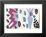 The Knife Thrower, pl. XV from Jazz, c.1943 Reproduction laminée et encadrée par Henri Matisse