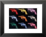 Gun, c.1982 Reproduction laminée et encadrée par Andy Warhol