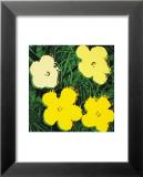 Flowers, c.1970 (Yellow) Reproduction laminée et encadrée par Andy Warhol