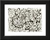 N° 14, gris Reproduction laminée et encadrée par Jackson Pollock