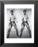 Elvis - 1963 Reproduction laminée et encadrée par Andy Warhol