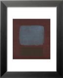 No. 37 / No. 19 (Slate Blue and Brown on Plum), 1958 Reproduction laminée et encadrée par Mark Rothko