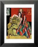 Two Young Women, the Yellow Dress and the Scottish Dress, c.1941 Reproduction laminée et encadrée par Henri Matisse