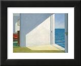 Chambres au bord de la mer, 1951 Reproduction laminée et encadrée par Edward Hopper