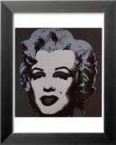 Marilyn Monroe, 1967 (black) Reproduction laminée et encadrée par Andy Warhol