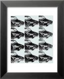 Douze voitures, 1962 Reproduction laminée et encadrée par Andy Warhol