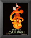 Campari Bitter, 1921 Reproduction laminée et encadrée par Leonetto Cappiello