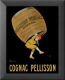 Cognac Pellisson Reproduction laminée et encadrée par Leonetto Cappiello