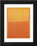 Orange et Jaune Reproduction laminée et encadrée par Mark Rothko