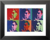 Ensemble de six autoportraits, 1967 Reproduction laminée et encadrée par Andy Warhol