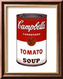 Soupe Campbell's I - Tomate, 1968 Reproduction laminée et encadrée par Andy Warhol