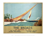 Broads Boat Blowing to Side
