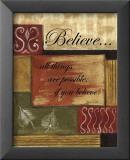 Croire, en anglais Reproduction laminée et encadrée par Debbie DeWitt