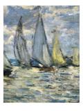 The Boats, or Regatta at Argenteuil Reproduction d'art par Claude Monet