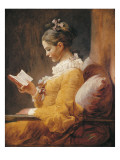 A Young Girl Reading