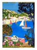 L'été sur la Côte d'Azur Giclée