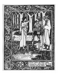 The Lady of the Lake Telleth Arthur of the Sword Excalibur  Illustration from 'Le Morte D'Arthur'