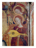 Detail of Angel Musicians from a Painting of the Virgin and Child Surrounded by Six Angels  1437-44