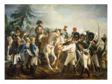 Napoleon and the Bavarian and Wurttemberg Troops in Abensberg  20th April 1809