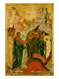 The Raising of Lazarus  Russian Icon  Novgorod School  15th Century