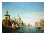 Entrance to the Grand Canal  Venice  with the Church of Santa Maria Della Salute