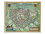 Map of Nijmegen  from 'Civitates Orbis Terrarum' by Georg Braun