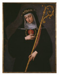 St Gertrude the Great Carrying the Sacred Heart of Jesus