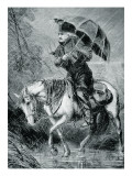 The Circuit Rider  Illustration from 'Harper's Weekly'  12th October 1867
