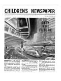 City of the Future  Front Page of 'The Children's Newspaper  February 1963