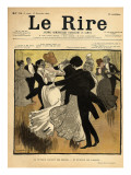 Dancing Couples  from the Front Cover of 'Le Rire'  17th December 1898