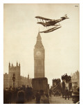 Alan Cobham Coming in to Land on the Thames at Westminster  London  1926