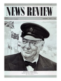 Winston Churchill  from the Frontcover of 'News Review'  6th June 1946