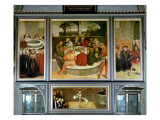 Triptych  Left Panel  Philipp Melanchthon Performs a Baptism Assisted by Martin Luther