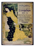 Ad for the 'Madrid International Exhibition of 1893-94' at the Palace of Industry and Arts