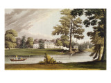 Stoke Place  from Ackermann's 'Repository of Arts'  Published C1826