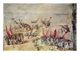 Cortes Sinking His Fleet Off the Coast of Mexico  1518