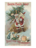 Best for the Laundry'  Advertisement for Fairbank's Santa Claus Soap  C1880