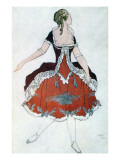 Costume Design for the Princess Aurora  from Sleeping Beauty  1921