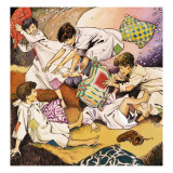 A Pillow Fight  Illustration from 'Peter Pan' by JM Barrie